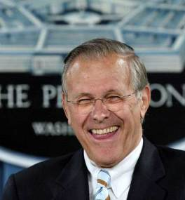 creepy Donald Rumsfeld